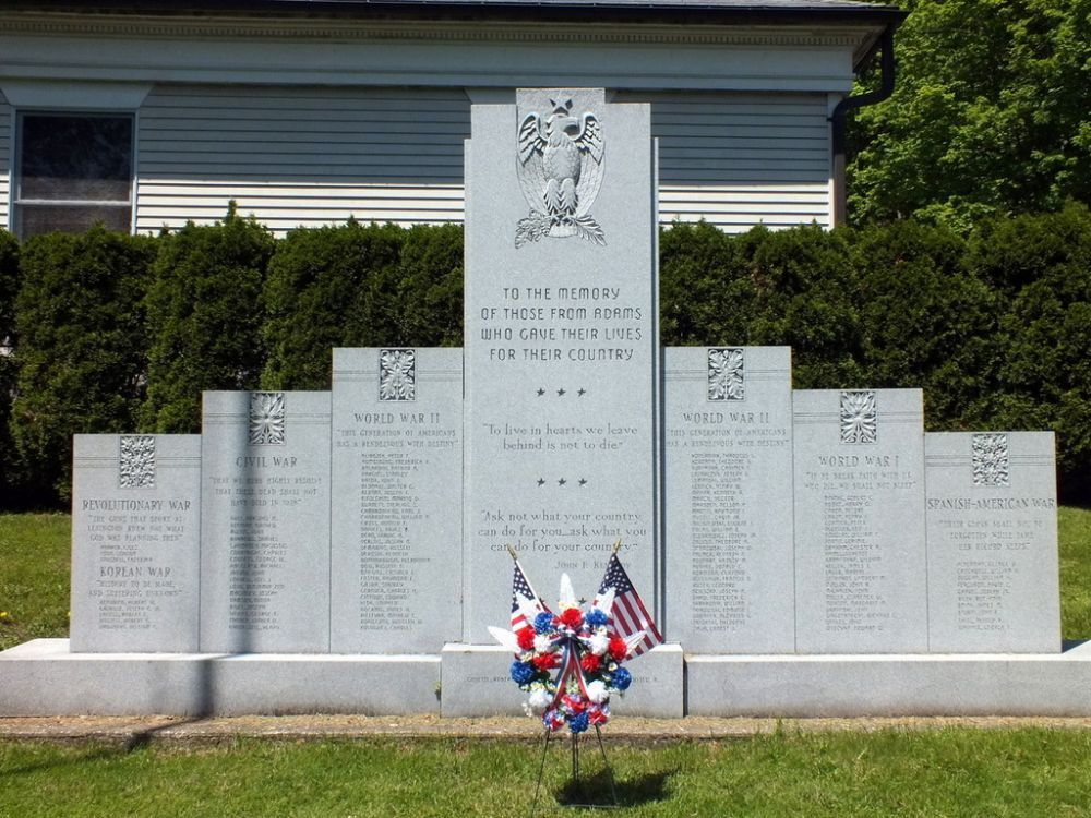 Adams War Memorial, Adams, Massachusetts
