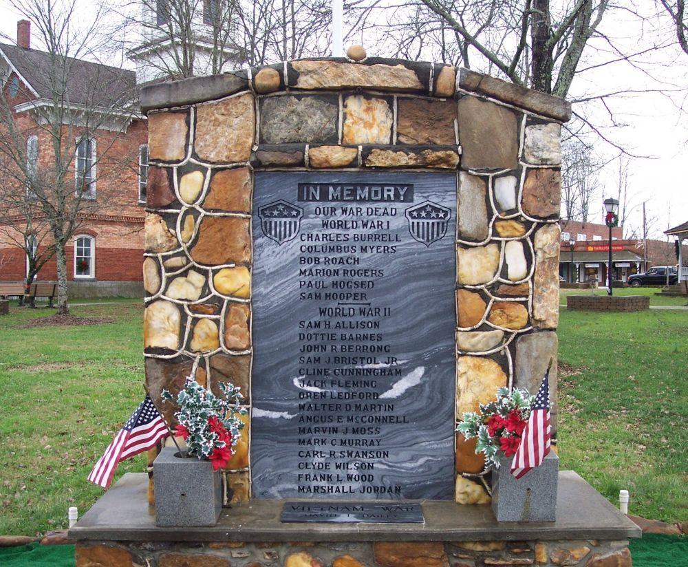 Veterans War Memorial, Hayesville, North Carolina