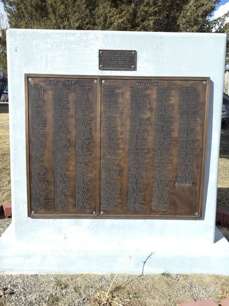 World War I and World War II Memorial, White Sulphur Springs, Montana