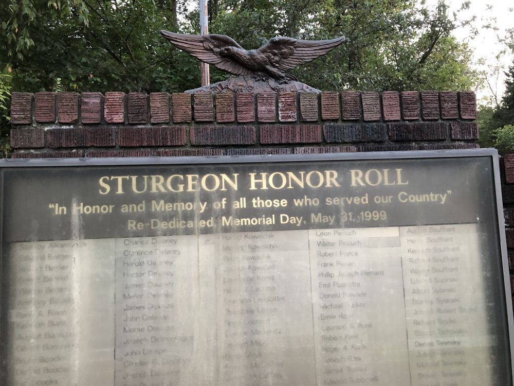 Sturgeon Honor Roll