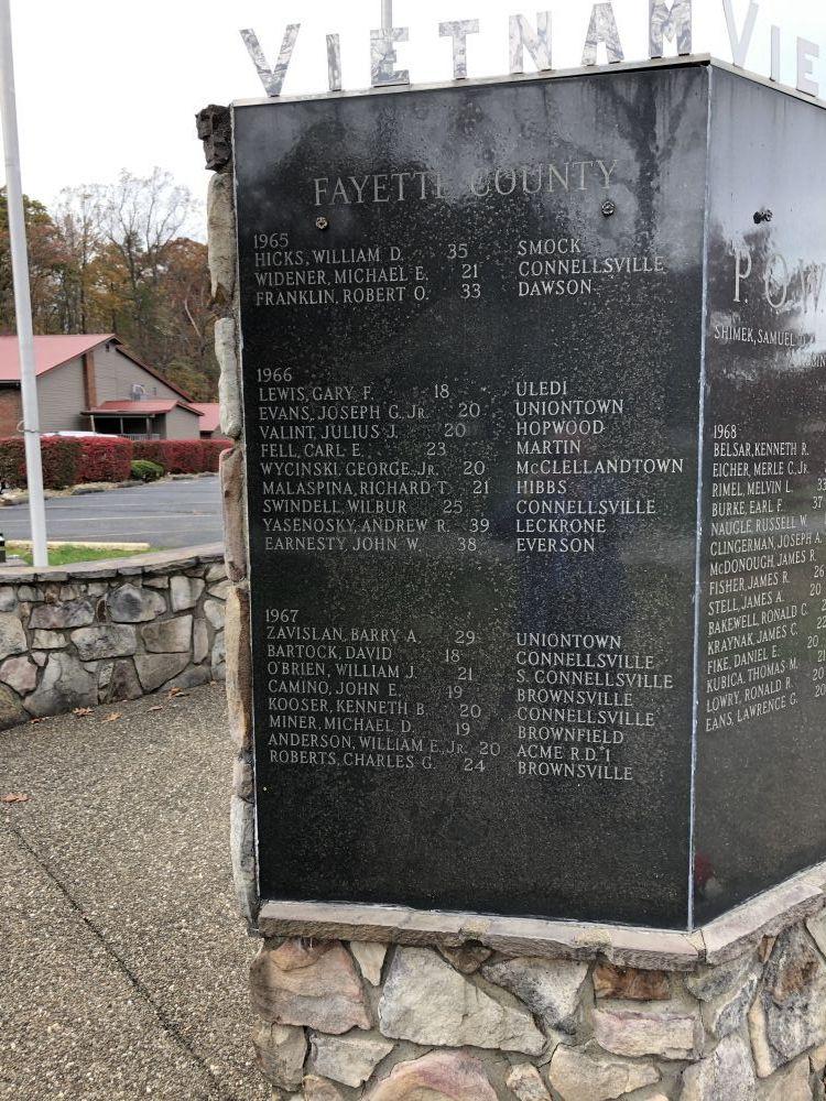 Fayette County Vietnam Veterans Memorial