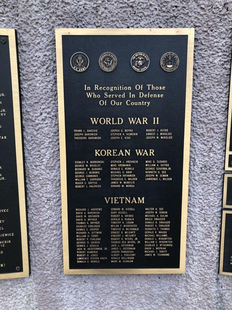 Port Vue Veterans Honor Roll