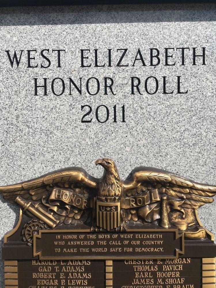 West Elizabeth Honor Roll