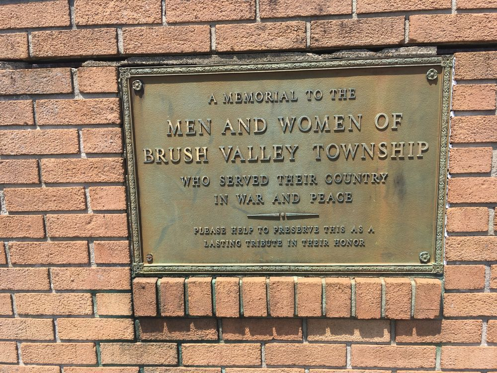 Brush Valley Veterans Memorial and Honor Roll