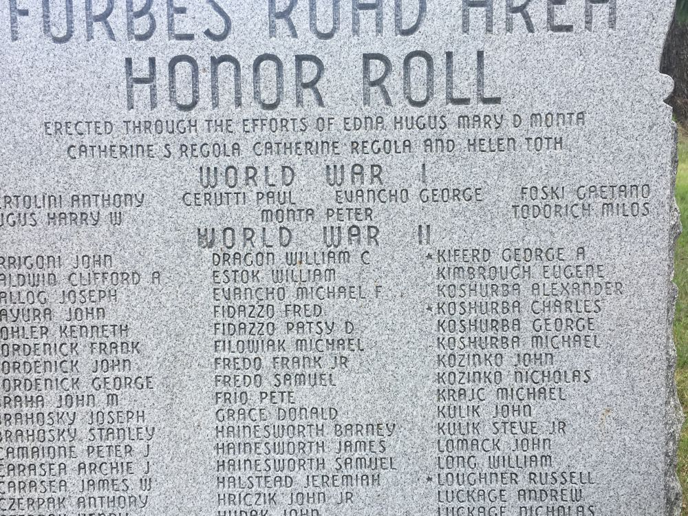 Forbes Road Area Honor Roll