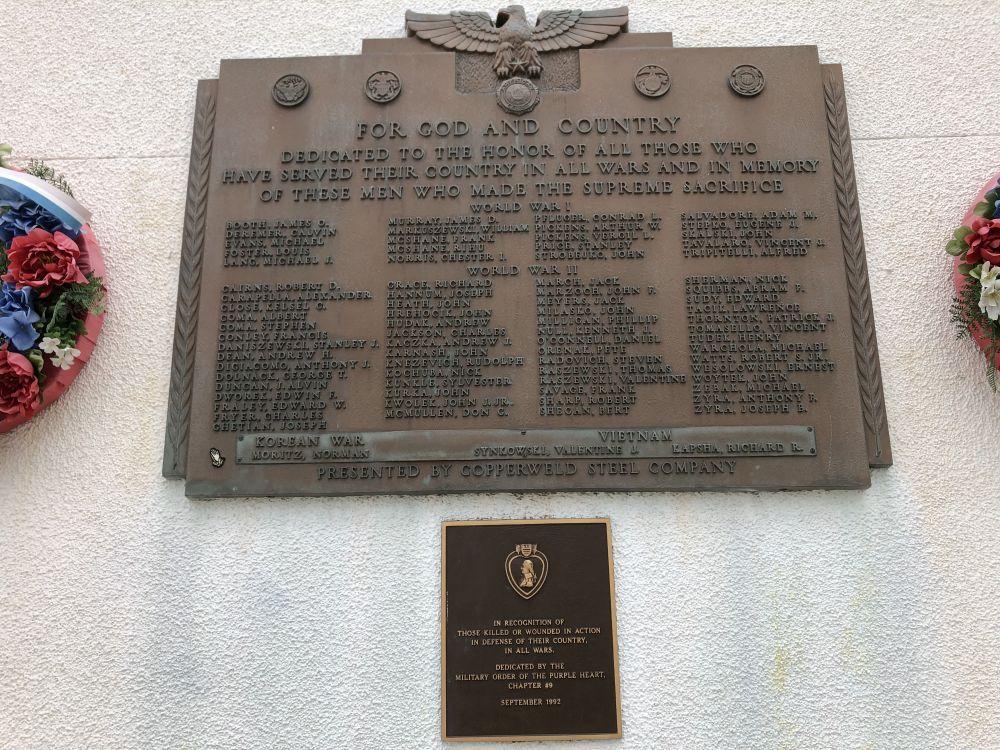 Glassport Legion Memorial to the Fallen
