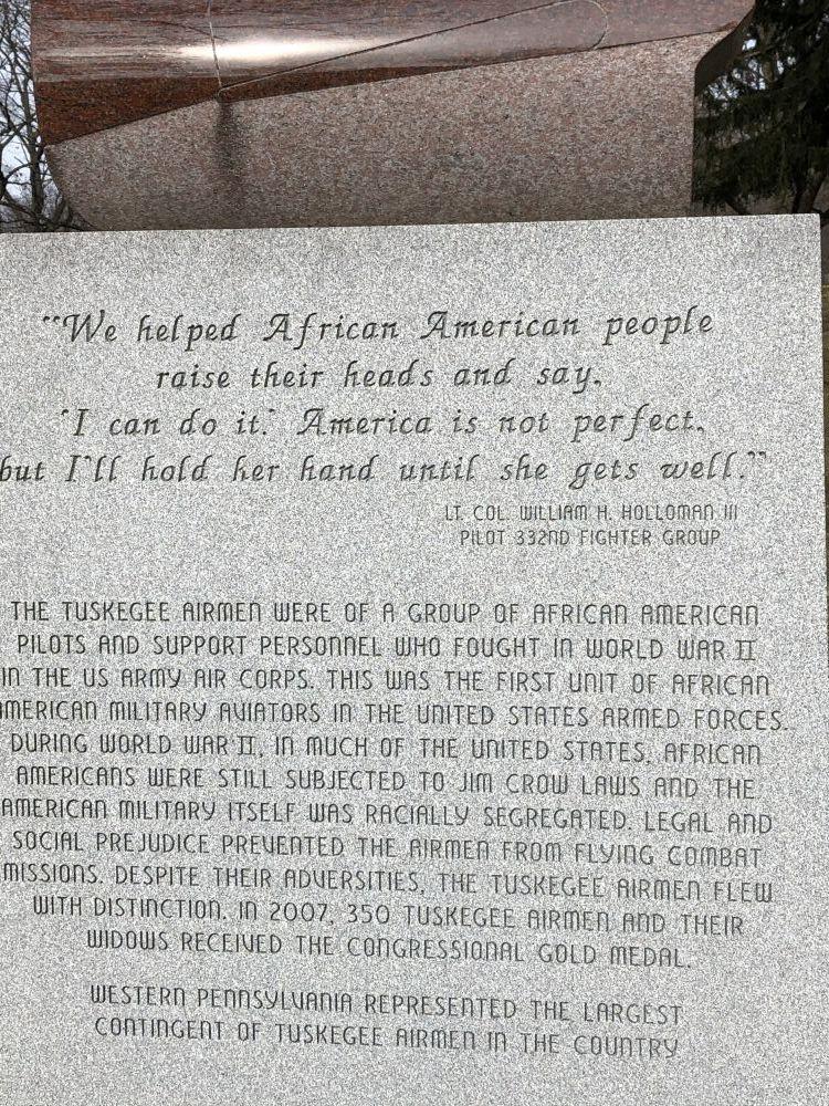 Tuskegee Airmen Memorial of Greater Pittsburgh, Pennsylvania
