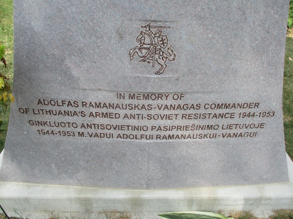 Adolfas Ramanauskas-Vanagas Lithuanian Resistance Memorial
