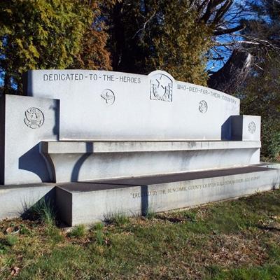 World War I and II Memorial, Green Hills Cemetery, Asheville