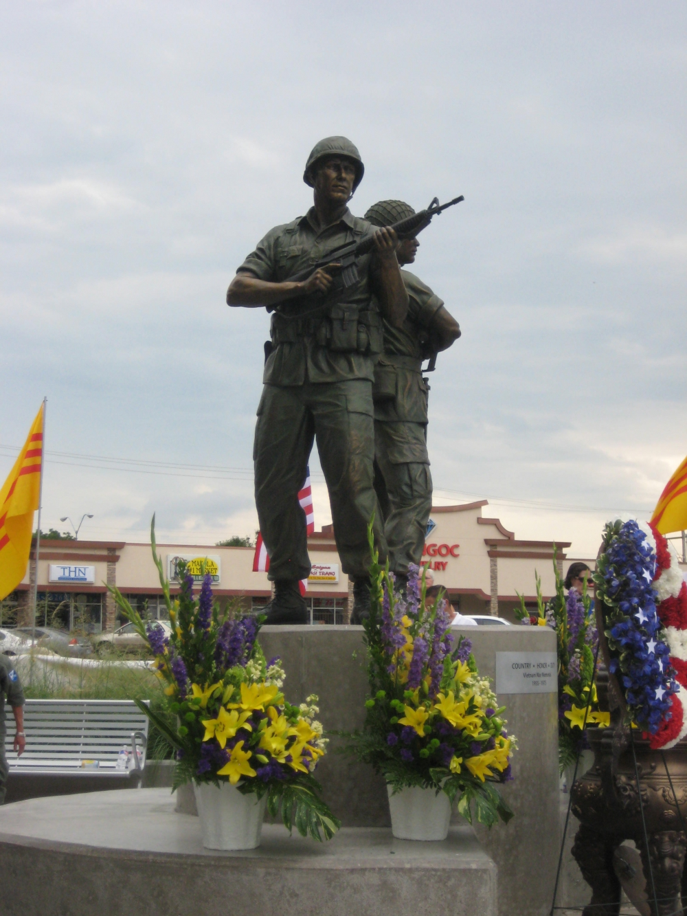 "Oklahoma City – Military Park Vietnam War Memorial ""Brothers in Arms"" Monument"