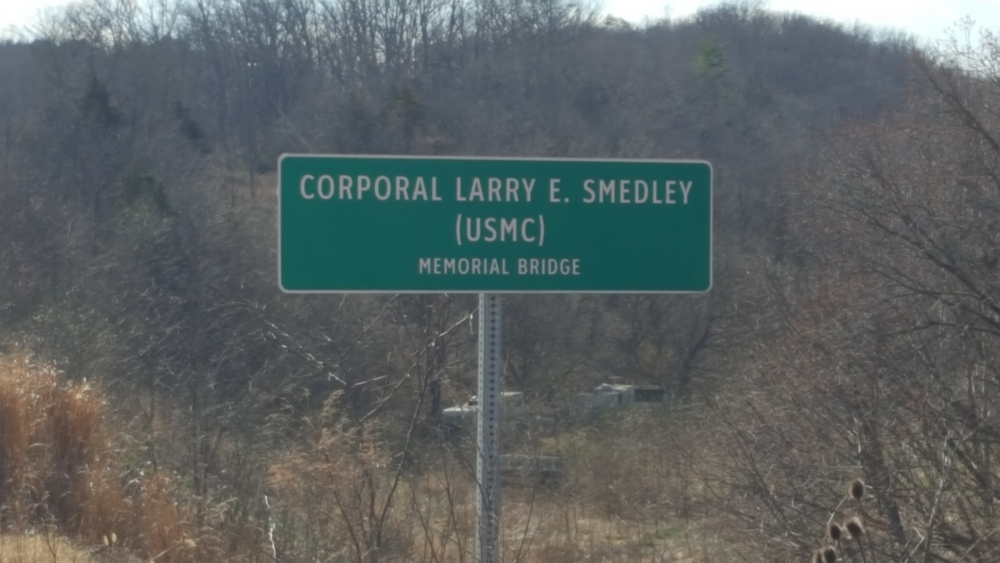 Warren County, Virginia CPL Larry E Smedley USMC Memorial Bridge