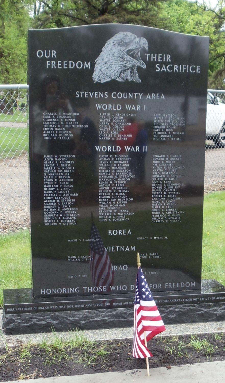 Veterans' Memorial, Stevens County, Minnesota