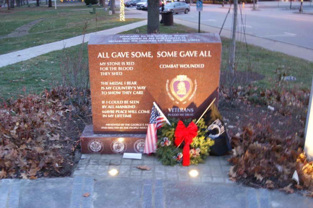 The Veterans Plaza, Brunswick, Maine