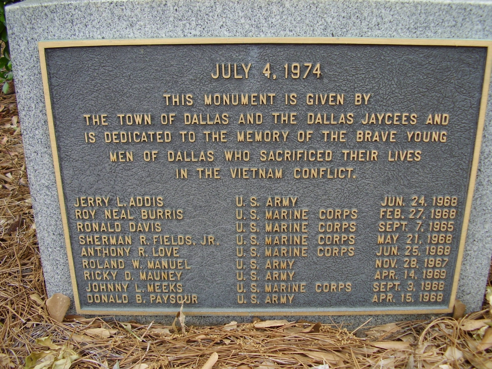 Vietnam Memorial, Dallas
