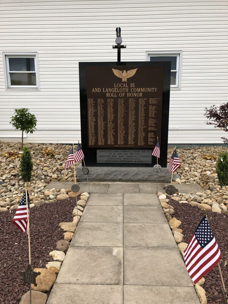Local 95 and Langeloth Community Roll of Honor