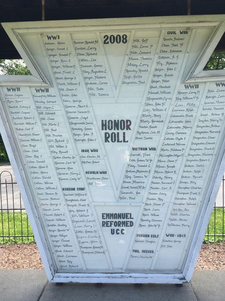 Emmanuel Reformed UCC Honor Roll