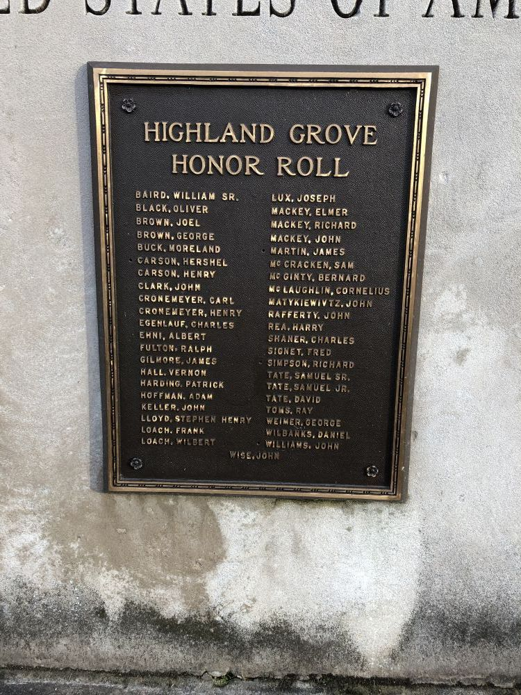 Highland Grove Honor Roll
