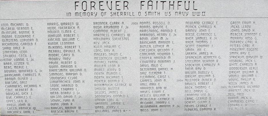 Blackwell Veteran's Memorial