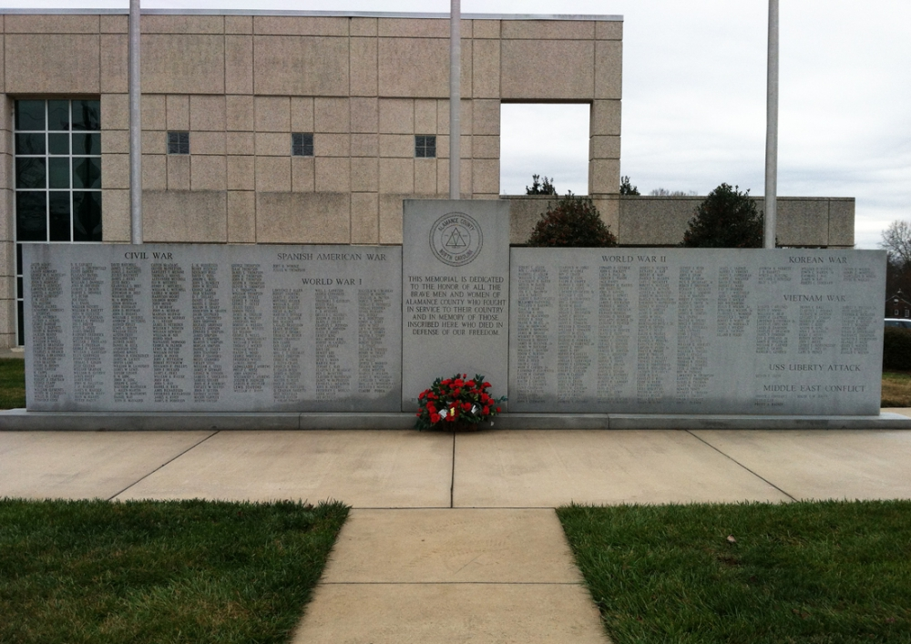 Alamance County War Memorial, Graham   The American Legion