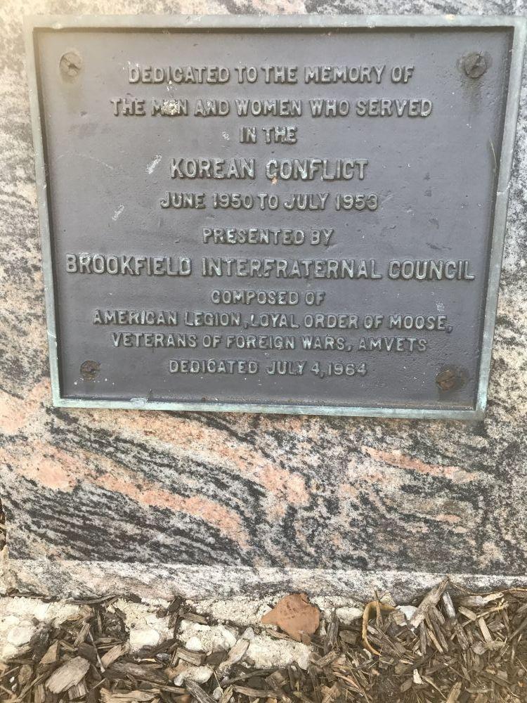 Korean Conflict Memorial, Brookfield, Illinois