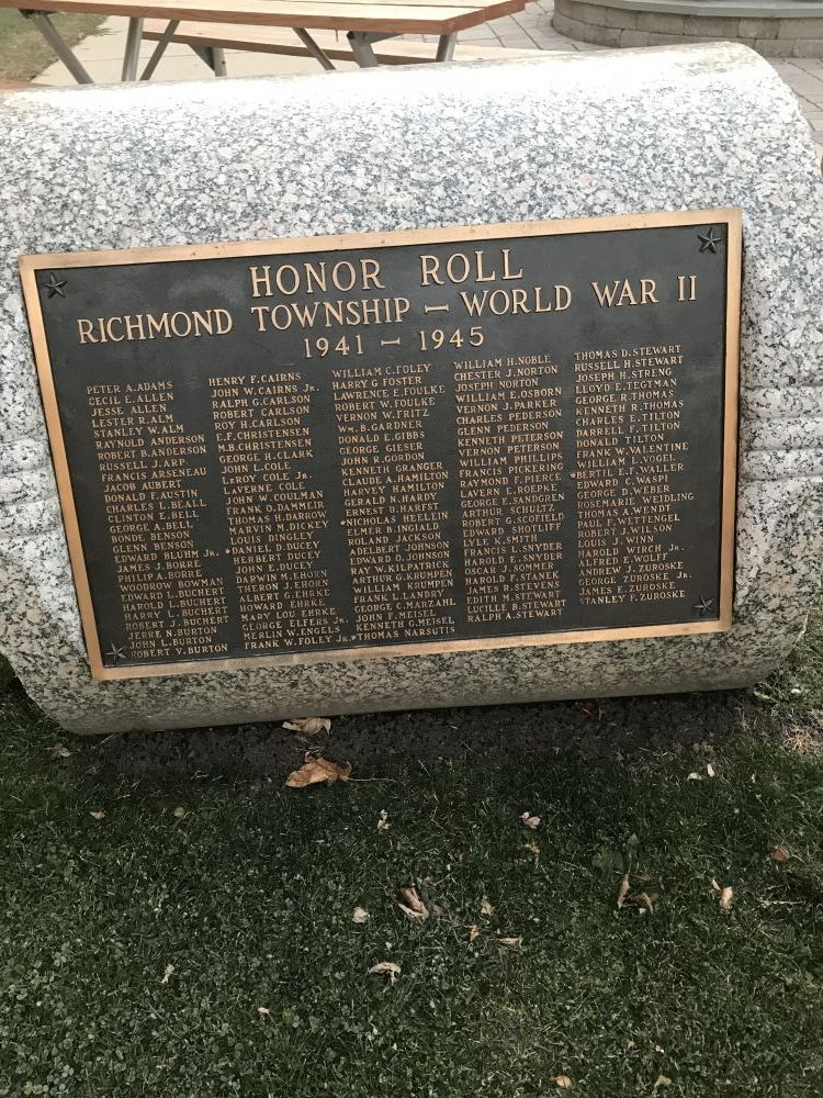 Richmond Veterans Memorial, Richmond, Illinois