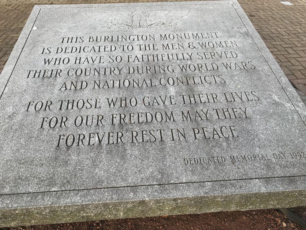 Burlington Veterans Memorial, Burlington, Wisconsin