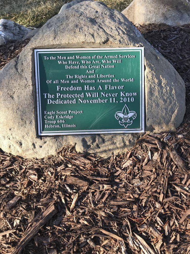 Veterans Memorial, Hebron, Illinois