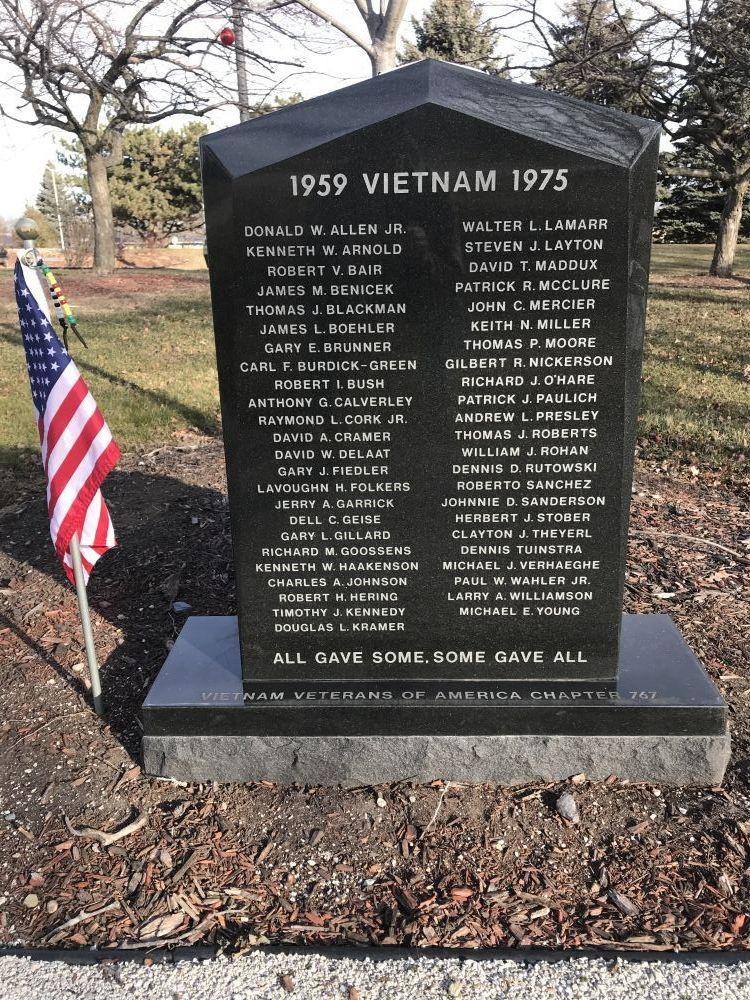 Vietnam Veterans Memoria, Racine, Wisconsin