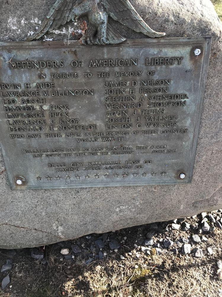Defenders of American Liberty, Racine, Wisconsin
