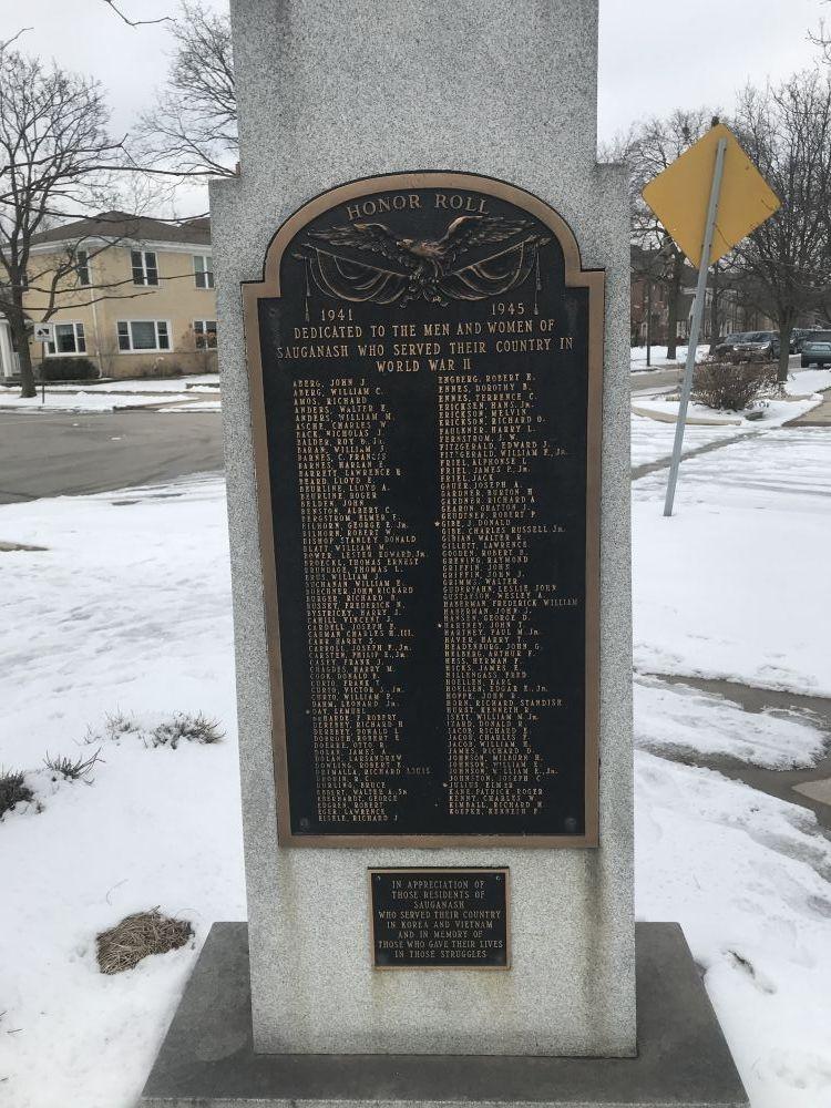 Sauganash Veterans Memorial, Chicago, Illinois