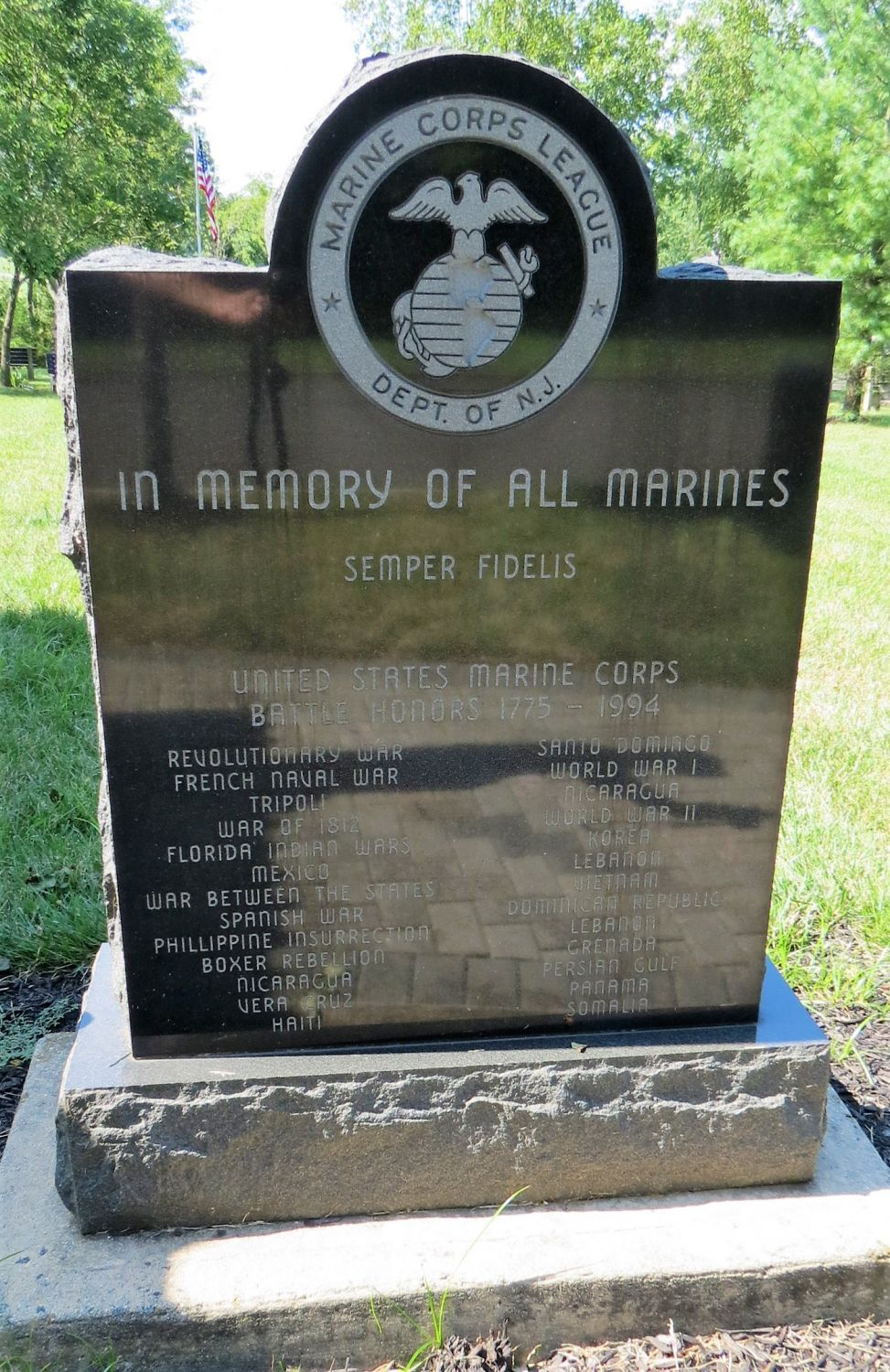 New Jersey Marine Corps League Memorial