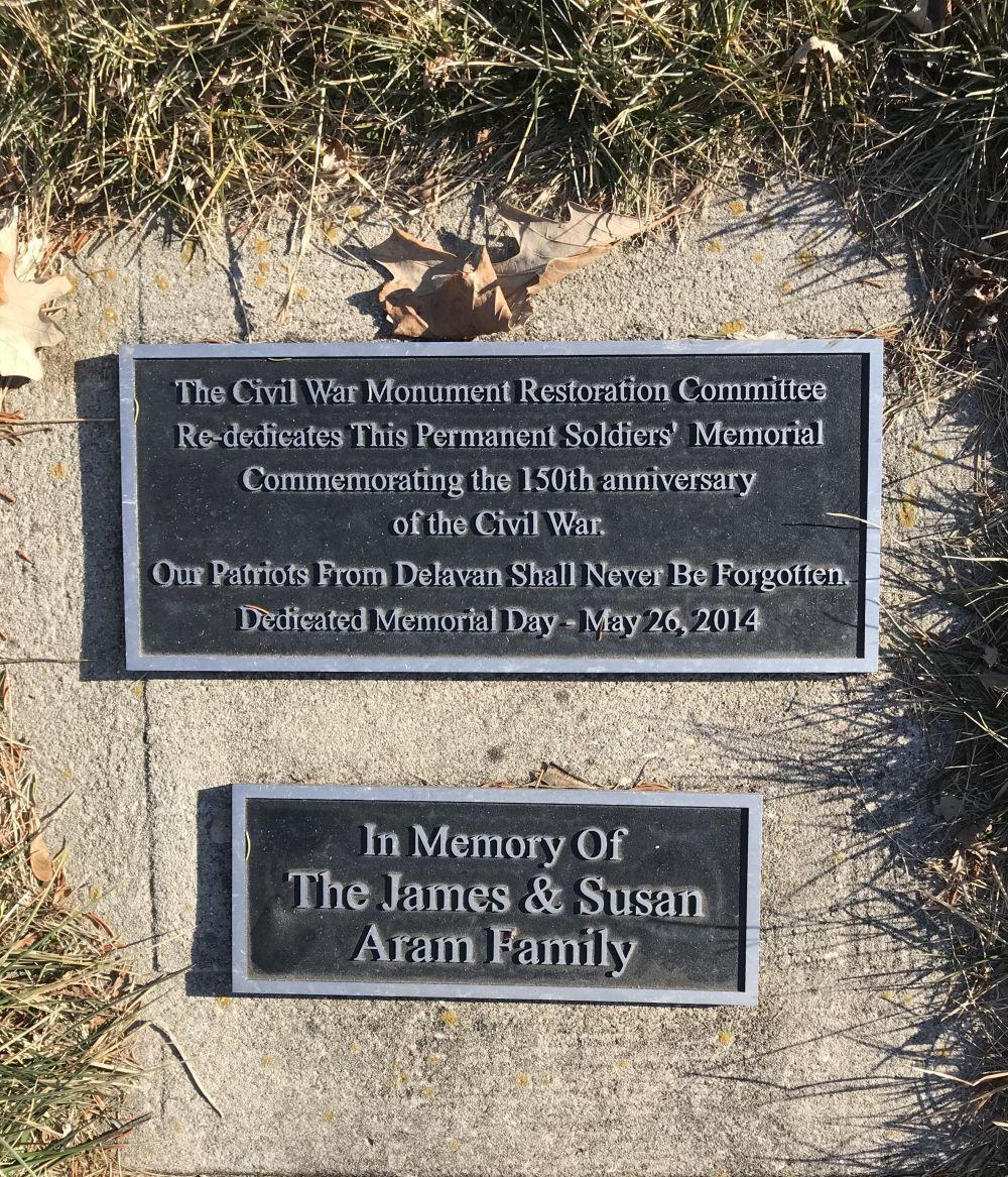 Civil War Memorial, Spring Grove Cemetery, Delavan, Wisconsin