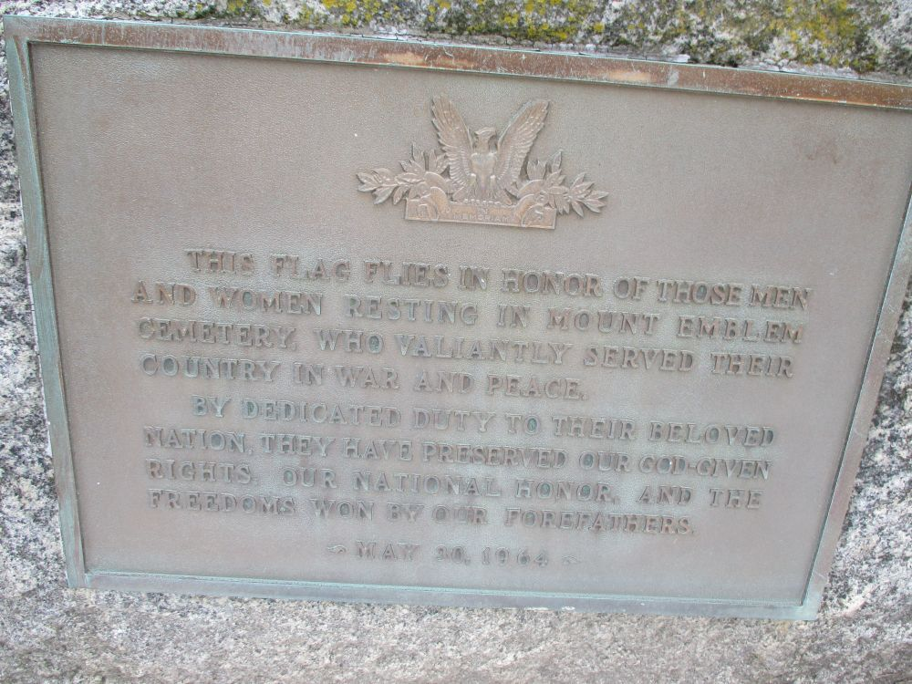 Mt. Emblem Cemetery Veterans Memorial