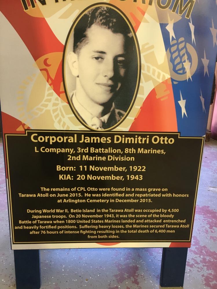 In memory of CPL James Dimitri Otto