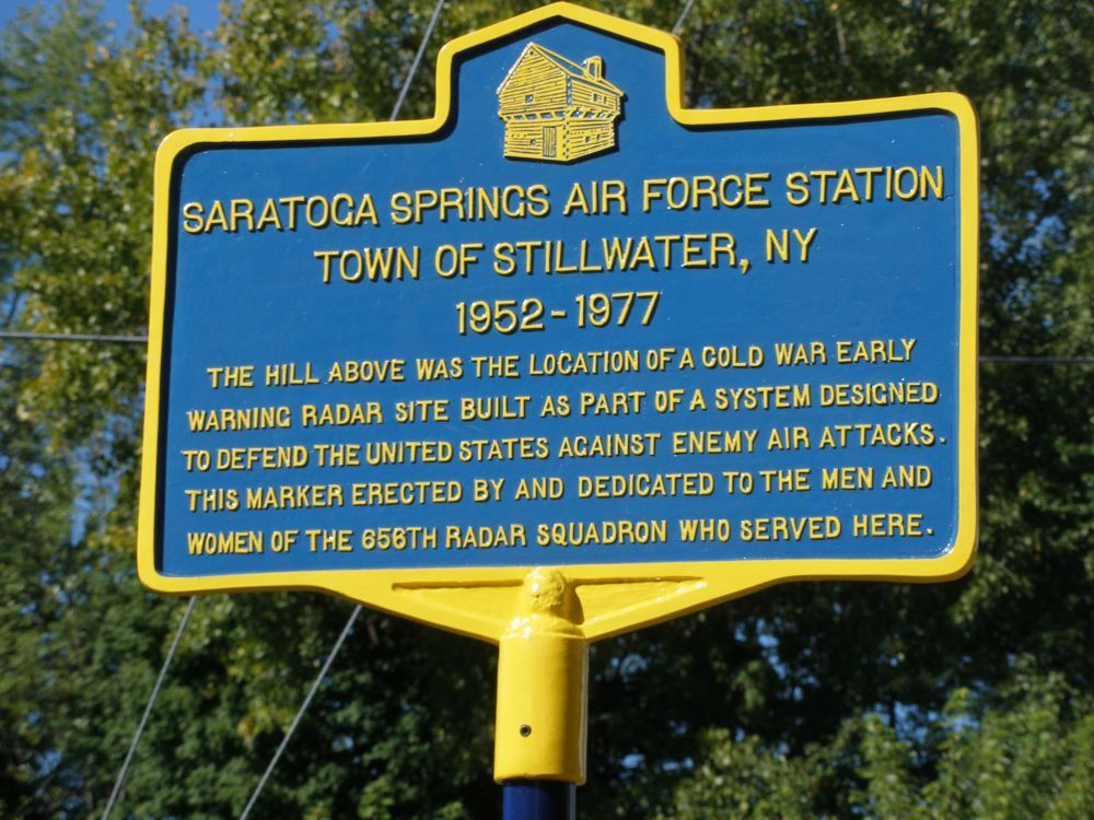Saratoga Springs Air Force Station Historical Marker