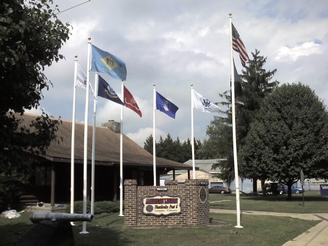 Lighted Flag Display