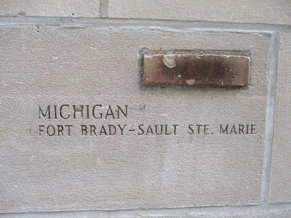 Piece of Fort Brady, Chicago Tribune Building