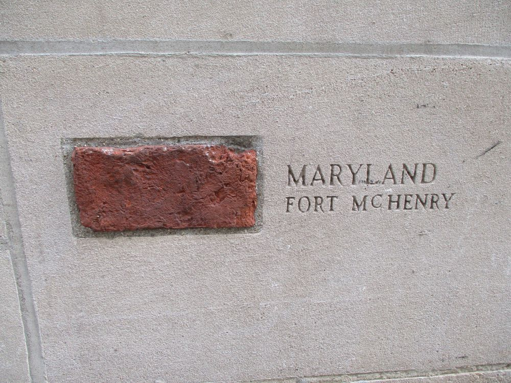 Piece of Fort McHenry, Chicago Tribune Building