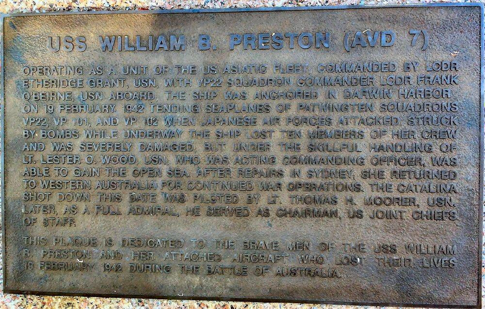USS William B. Preston Memorial