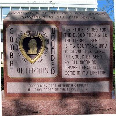 Purple Heart Memorial, Raleigh