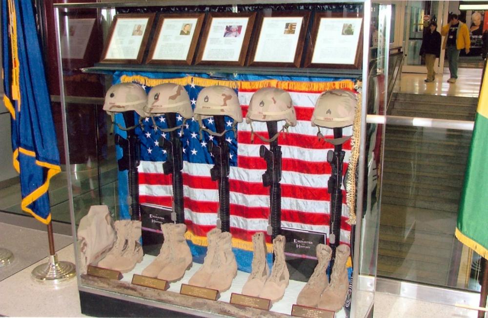 Veterans Memorial Wall at the Airport