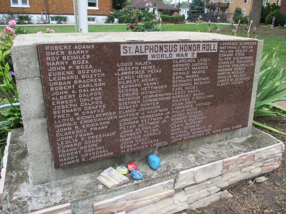 Saint Alphonsus Parish World War II Honor Roll Memorial