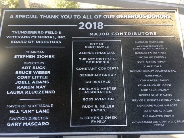 Thunderbird Field II Veterans Memorial, Scottsdale, Arizona