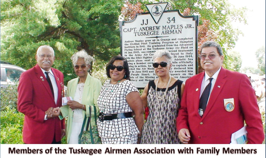 Capt. Andrew Maples, Jr., Tuskegee Airman Memorial Historical Marker