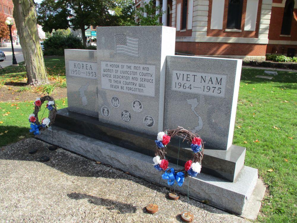 Livingston County Korean War and Vietnam War Memorial