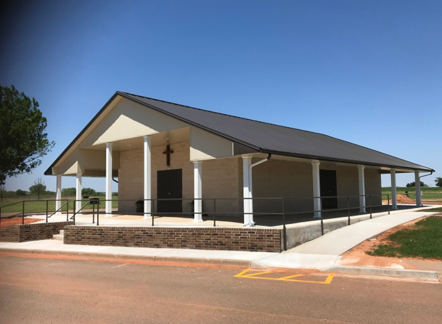 Veterans Memorial Chapel, Fairlawn Cemetery, Elk City, Oklahoma