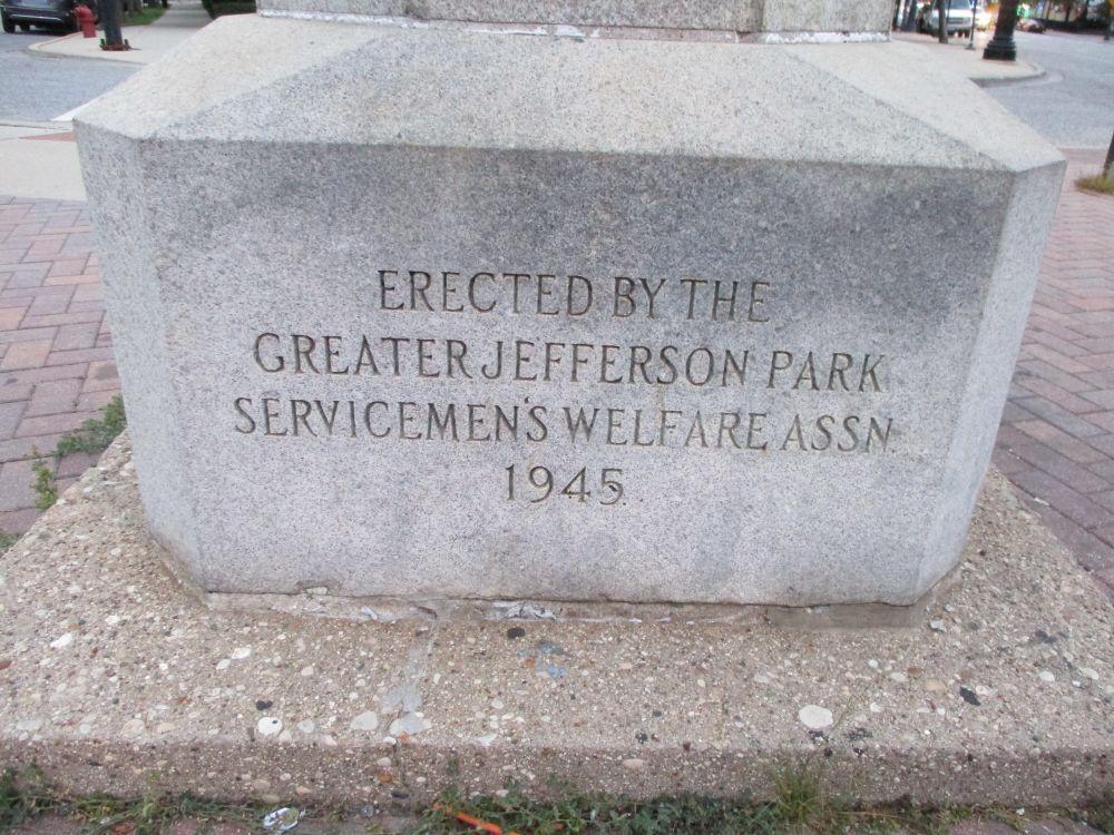 Greater Jefferson Park Serviceman's Welfare Association Veterans Memorial