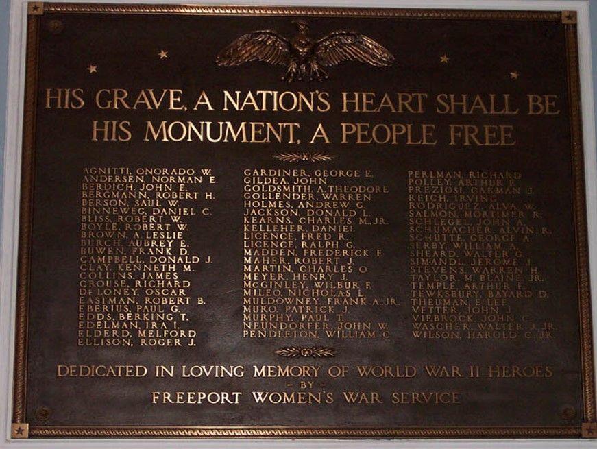 Memorial Plaque - World War I