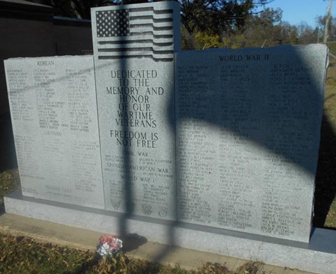 War Memorial, Healdton, Oklahoma
