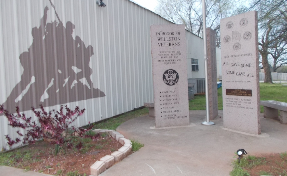 Wellston Veterans Memorial, Wellston, Oklahoma